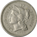 1868 Three (3) Cent Nickel