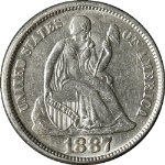 1887-P Seated Liberty Dime