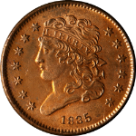 1835 Half Cent Choice BU+ Details Great Eye Appeal Fantastic Luster Nice Strike