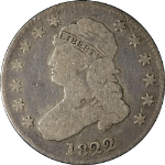 1822 Bust Quarter Choice G/VG Great Eye Appeal Nice Strike