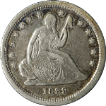 1839-P No Drapery Seated Liberty Quarter VF/XF Details Nice Eye Appeal