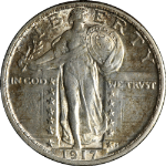 1917-P Type 2 Standing Liberty Quarter Full Head Nice Unc Great Eye Appeal
