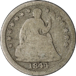 1844-O Seated Liberty Half Dime Choice G+ Great Eye Appeal Nice Strike