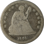 1842-O Seated Liberty Quarter Small Date Nice G/VG Key Date Nice Eye Appeal