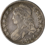 1814 Bust Half Dollar Choice XF 0-103 R.1 Great Eye Appeal Nice Strike