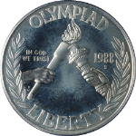1988-S Olympic Silver Commemorative $1 PCGS PR67 DCAM - Blue Label
