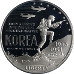 1991-P Korea Silver Commemorative $1 PCGS PR68 DCAM - Blue Label - STOCK