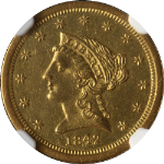 1842-O Liberty Gold $2.50 NGC Unc Details Nice Eye Appeal Nice Luster