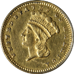 1877 Type 3 Indian Princess Gold $1 Nice BU Details Key Date Nice Eye Appeal