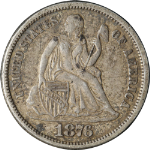 1876-P Seated Liberty Dime
