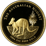2004 Australia $200 Nugget 2 Ounce Gold Coin Proof Issue - .9999 Fine -OGP & COA