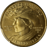 2014-W Florence Harding Gold $10 PCGS MS70 Superb Eye Appeal Fantastic Luster
