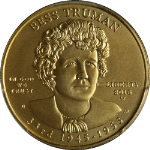 2015-W Bess Truman Gold $10 PCGS MS70 Superb Eye Appeal Fantastic Luster