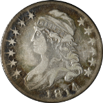 1814 Bust Half Dollar 'E Over A' Choice VF 0-108a R.1 Great Eye Appeal