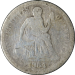 1864-S Seated Liberty Dime
