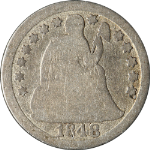 1848-P Seated Liberty Dime