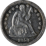 1858-P Seated Liberty Dime
