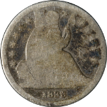 1838-P Seated Liberty Dime - Neat Die Crack