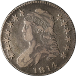 1814/3 Bust Half Dollar Choice F/VF 0-101a R.2 Great Eye Appeal Nice Strike