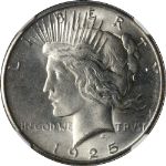 1925-P Peace Dollar NGC MS65 Bright White Nice Eye Appeal Nice Strike STOCK