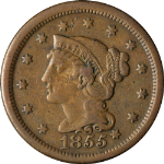 1855 Large Cent Knob On Ear
