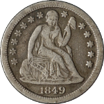 1849-P Seated Liberty Dime