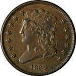 1832 Half Cent Choice AU/BU C-3 R.1 Superb Eye Appeal Strong Strike