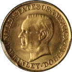 1916 McKinley Commemorative Gold $1 PCGS MS65 Great Eye Appeal Nice Strike