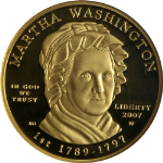 2007-W First Spouse Gold $10 Martha Washington NGC PF70 Ultra Cameo First Lady