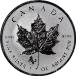 2014 Canada 1 Ounce Silver Maple Leaf Chinese Lunar Horse Privy Mark - STOCK