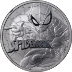 2017 Tuvalu $1 NGC MS70 Spider-Man 1 Ounce Silver .9999 Fine
