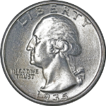 1935-P Washington Quarter