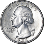 1936-P Washington Quarter