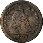 1847-O Seated Liberty Quarter Nice VG Decent Eye Appeal