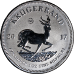 2017 South Africa 1 Ounce Silver Krugerrand 50th Anniversary Premium BU