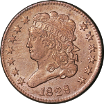 1828 Half Cent - Cleaned