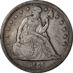 1842 Seated Liberty Dollar Nice F Nice Eye Appeal Nice Strike