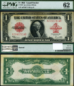 FR. 40 $1 1923 Legal Tender PMG CU62 Stain