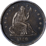 Re-Cut Date 1840-O Seated Liberty Quarter No Drapery PCGS XF40 Nice Eye Appeal