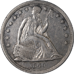 1840 Seated Liberty Dollar Nice AU Nice Eye Appeal Nice Strike