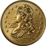 2008-W First Spouse Gold $10 Jackson's Liberty PCGS MS69 - Blue Label