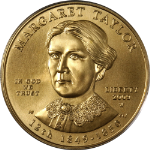 2009-W First Spouse Gold $10 Margaret Taylor PCGS MS69 - Blue Label