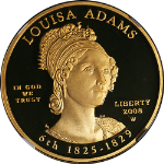 2008-W First Spouse Gold $10 Louisa Adams NGC PF69 Ultra Cameo Spouse Label