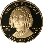 2010-W First Spouse Gold $10 Abgail Fillmore NGC PF69 Ultra Cameo Spouse Label