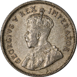South Africa 1934 Shilling KM #17.3 XF+