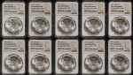 1991 Silver American Eagle $1 NGC MS65(1) MS68(7) MS69(2) Mint ERROR 10 Coin Lot