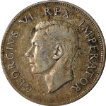 South Africa 1938 2 1/2 Shillings, KM #30,  F