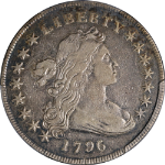 1796 Bust Dollar Small Date, Lg Letters PCGS VF25 Great Eye Appeal Nice Strike