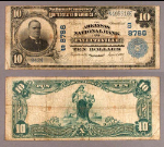 Fayetteville AR $10 1902 PB National Bank Note Ch #8786 Arkansas NB VG+