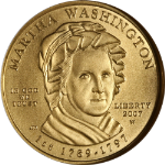 2007-W First Spouse Gold $10 Martha Washington NGC MS70 First Lady - STOCK